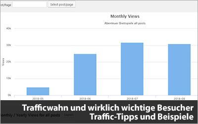 Trafficwahn und wirklich wichtige Besucher - Traffic-Tipps und Beispiele