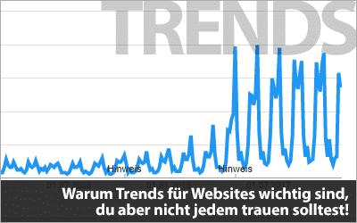 Trends - Warum sie für Websites wichtig sind, du aber nicht jedem trauen solltest