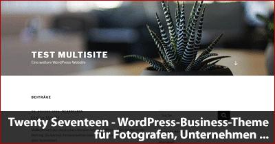 Twenty Seventeen - WordPress-Business-Theme für Fotografen, Unternehmen ...