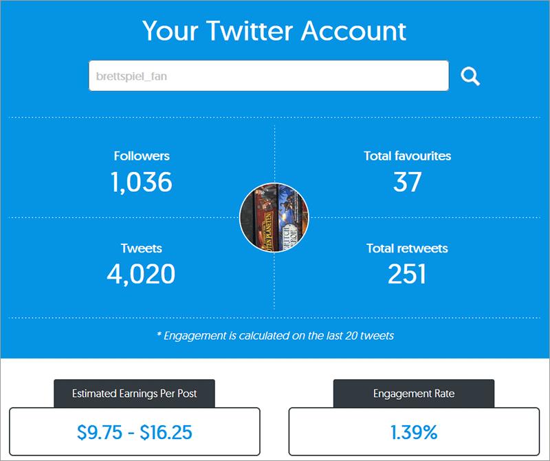 Wie viel verdient man auf Twitter pro Follower, Tweet und Like?