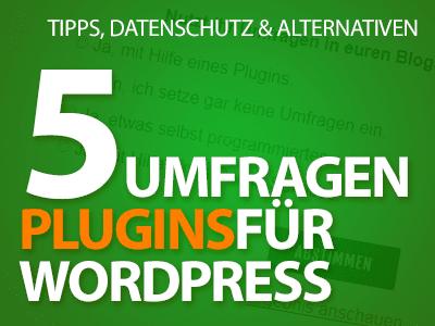 5 Umfragen-Plugins für WordPress, Datenschutz-Probleme und Alternativen
