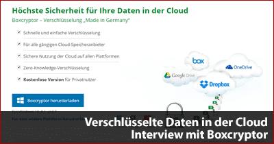 Verschlüsselte Daten in der Cloud - Interview mit Boxcryptor