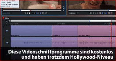 videoschnittprogramme kostenlos