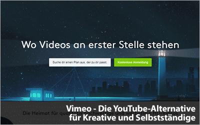 Vimeo - Die YouTube-Alternative für Kreative und Selbstständige