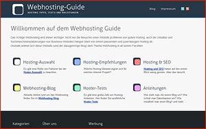 Webhosting-Guide - Meine neues Projekt