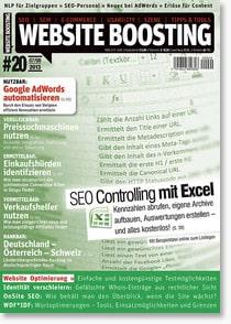 Aktuelle Zeitschriften - Website Boosting #20