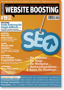Website Boosting Magazin #19 - SEO-Tipps, WordPress-Plugins, Linkaufbau ...
