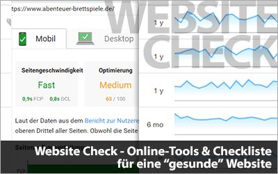 Website Check - Online-Tools & Checkliste für eine