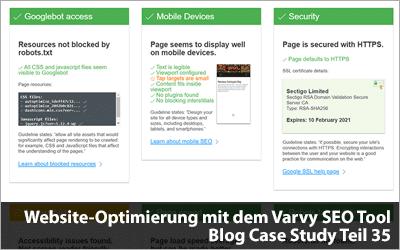 Website-Optimierung mit dem Varvy SEO Tool - Blog Case Study Teil 35