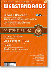 Webstandards Magazin #11 - Review und Verlosung