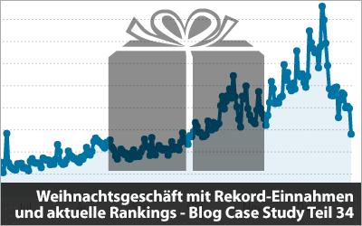 Weihnachtsgeschäft mit Rekord-Einnahmen und aktuelle Rankings - Blog Case Study Teil 34