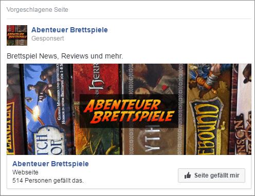 Werbung für Facebook Seite