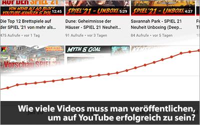 Wie viele Videos muss man veröffentlichen, um auf YouTube erfolgreich zu sein?