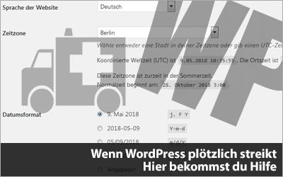 Wenn WordPress plötzlich streikt: Hier bekommst du Hilfe