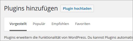 Wie installiere ich ein Plugin in WordPress?