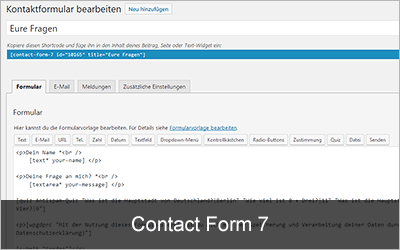 Contact Form 7 - Die 20 beliebtesten WordPress-Plugins 2019