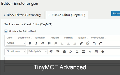 TinyMCE Advanced - Die 20 beliebtesten WordPress-Plugins 2019