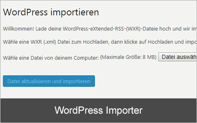 WordPress Importer - Die 20 beliebtesten WordPress-Plugins 2019