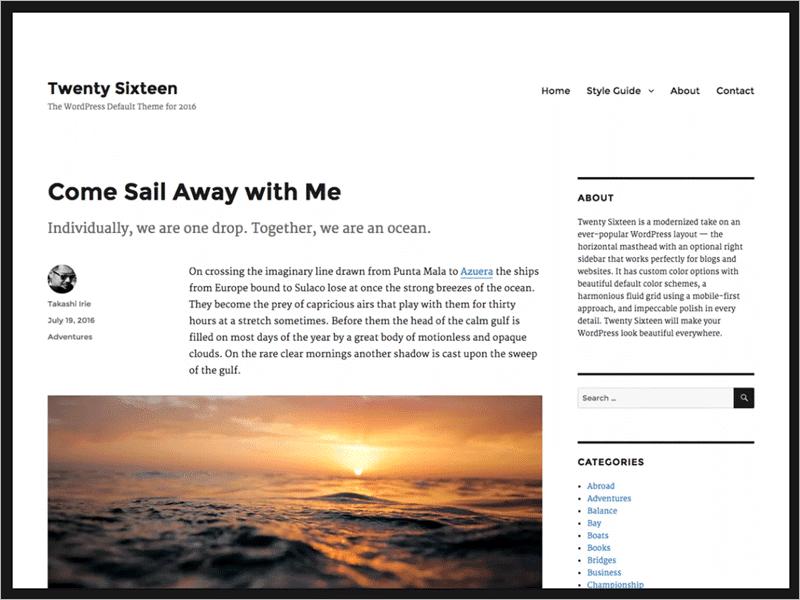 Twenty Nineteen - WordPress Theme