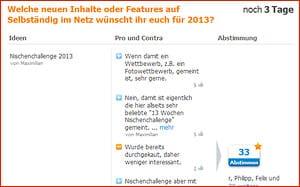 Eure Wünsche und Ziele für 2013 - Zwischenstand