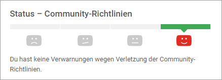 YouTube Kanal - Status Community-Richtlinien