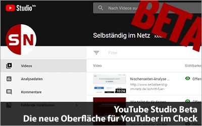YouTube Studio Beta - Neue Oberfläche für YouTuber