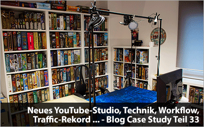 Neues YouTube-Studio, Technik, Workflow, Traffic-Rekord und mehr - Blog Case Study Teil 33