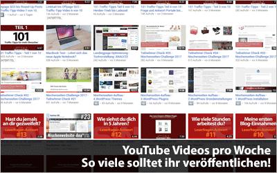 YouTube Videos pro Woche - So viel sollten es sein