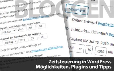 Zeitsteuerung in WordPress - Möglichkeiten, Plugins und Tipps