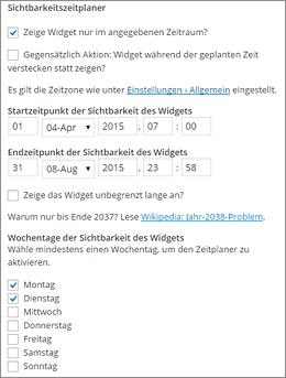 Zeitsteuerung in WordPress