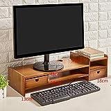 GCX&LV Schreibtisch Schreibtisch Organisation Monitor Riser,Bambus Holz Monitor Riser...
