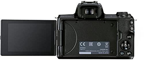 Canon EOS M50 Mark II Kamera + Objektiv EF-M 15-45mm F3.5-6.3 is STM (24,1 MP, 7,5 cm Touchscreen...