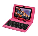 Tablet PC Touchscreen 7 Zoll,Tablet Computer Mit Tastatur Android Quad-core Laptop...