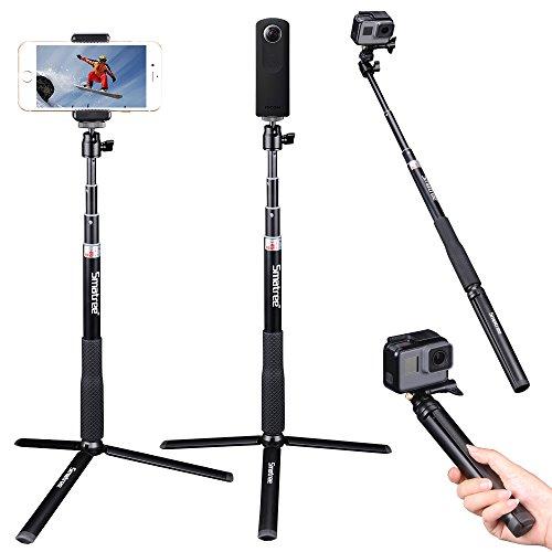 Smatree Ausziehbare Pole/Selfie Stick mit Stativ für GoPro Hero 8/7/6/5/4/3/Session/Fusion,DJI OSMO...