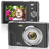 Digitalkamera 1080P FHD Mini-Videokamera 36MP LCD-Bildschirm Wiederaufladbare Studenten...