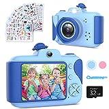Kinderkamera - Digitalkamera Kinder mit 2,4 Zoll Großbildschirm 1080P HD 12MP Eingebaute 32GB...