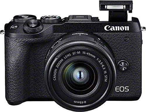 Canon EOS M6 Mark II Systemkamera Gehäuse - mit Objektiv EF-M 15-45mm F3.5-6.3 IS STM Kit (32,5...