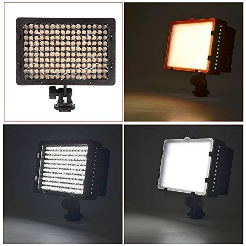 Neewer® 2 Stück CN-160 Dimmbare Ultra Hohe Power Panel LED-Videoleuchten Fotografie...