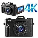 YinFun Digitalkamera 4K Fotoapparat Digitalkamera 48MP Kamera 16X Digitalzoom Kompaktkamera...