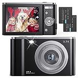 FamBrow Digitalkamera 2,88 Zoll 44 Megapixel 2.7K Mini Digitalkameras mit 16X Digitalzoom Kompakte...