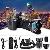 Full HD-Digitalkamera, D7100 33MP 3,0-Zoll-TFT-LCD Digitale DSLR-Kamera mit 24-Fachem Zoom 1080 P 30...