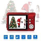 Digitalkamera, Foto Kamera Digital 2,7 Zoll 18 MP HD Mini Digitalkameras mit 8X Digitalzoom Digital...